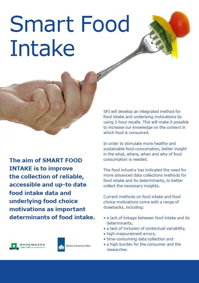 Slimme voedselinname - Poster bij het project Smart Food Intake