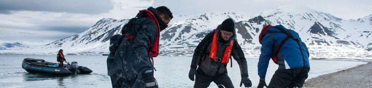 Herkomstlocaties van afval op Spitsbergen