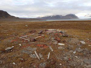 De resten van het weerstation