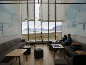 Lounge met foto's over de expeditie, ontdekkingsreizigers