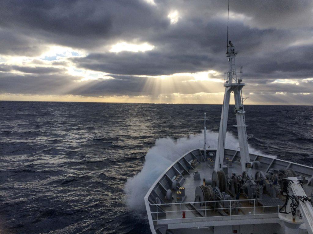 RV Kaiyo Maru is vertrokken vanuit Fremantle, Australie, en op weg naar de Zuidelijke Oceaan (© Marin van Regteren/FAJ)