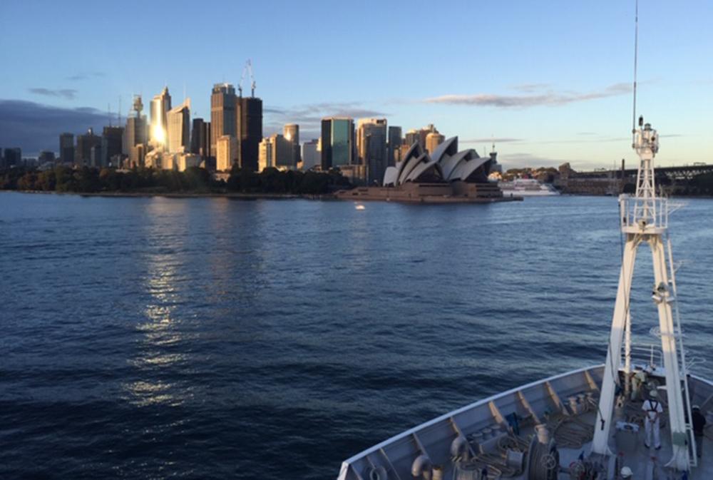 Aankomst in Sydney (© Fokje Schaafsma/FAJ)