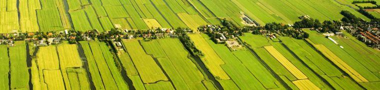 Omgeving Amsterdam luchtfoto platteland toerisme