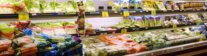 levensmiddelen in de supermarkt