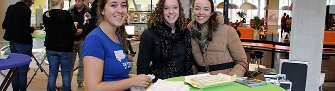 studenten op een Open Dag