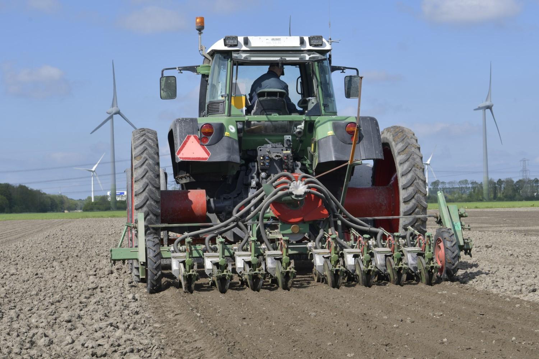 Tractor boerderij van de toekomst
