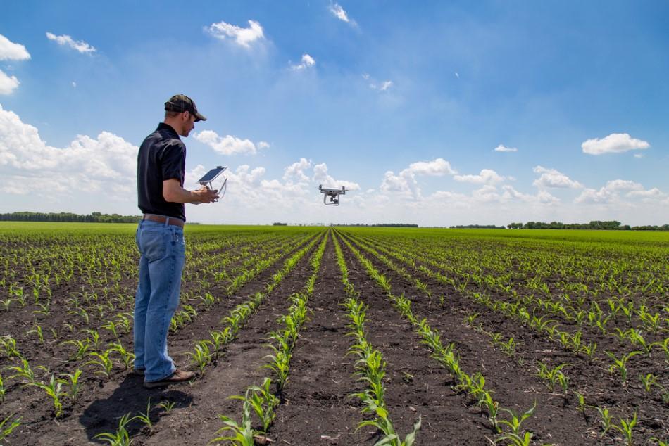 Drone boerderij van de toekomst